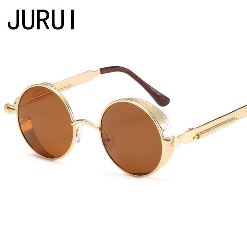 21c8ba8895 Steampunk Classic Round Polarized Circle Sunglasses For Men Female Mirror Vintage  John Lennon Sun Glasses Women Male Eyewear-in Sunglasses from Apparel ...