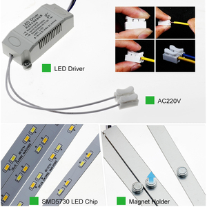 Image 4 - High Brightness 5730 LED Bar Lights LED Tube for Ceiling Lamp with good quality Power Driver AC220V only