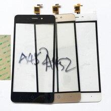 Замена черный белый золото сенсорный экран digitizer для zte blade a452 x3 d2 переднее стекло сенсорной панелью переднее стекло объектива