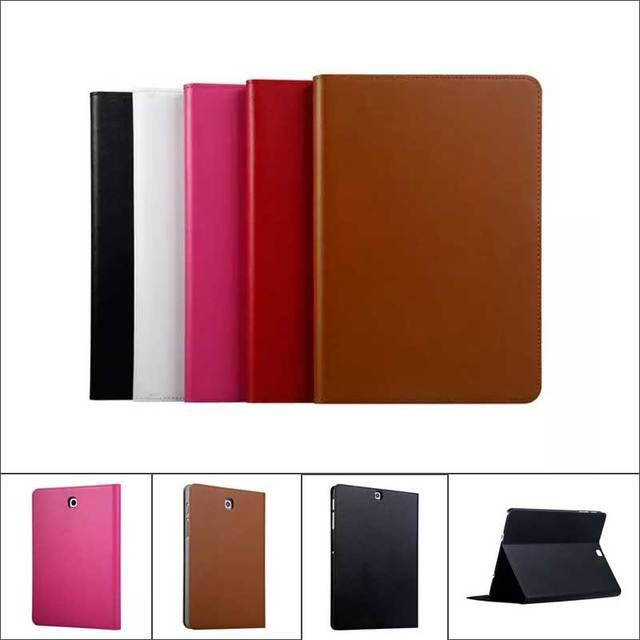 brand new 710b2 ec711 US $26.88 |High Quality Cowhide Genuine Leather Case for Samsung Galaxy Tab  S2 9.7