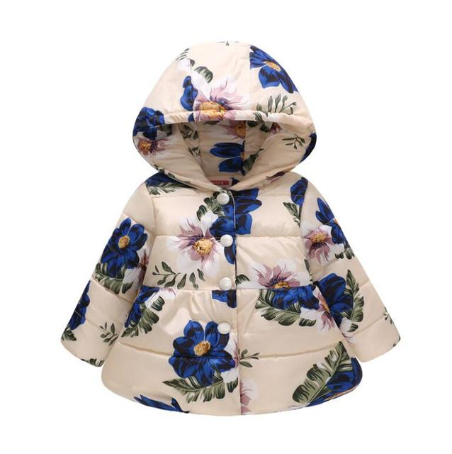 Baby Infant Toddler Kid Coat Autumn Outfit Fall Baby Girl Clothes Wild Zebra /& Mocka Floral Hooded Jacket