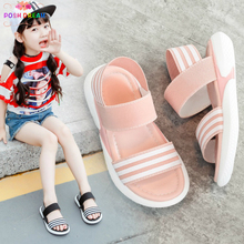 POSH DREAM Children's Shoes 2018 Summer New Kids Shoes Lovely Flower Shoes Fashion Girl Sandals Magic Baby Shoes for Kids 21-36