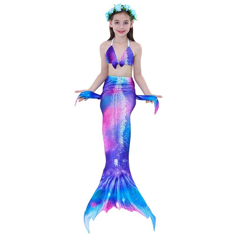 girls mermaid tail swimwear 5-1