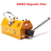 HEAVY DUTY 1320LB 600KG STEEL LIFTING MAGNET MAGNETIC LIFTER HOIST CRANE