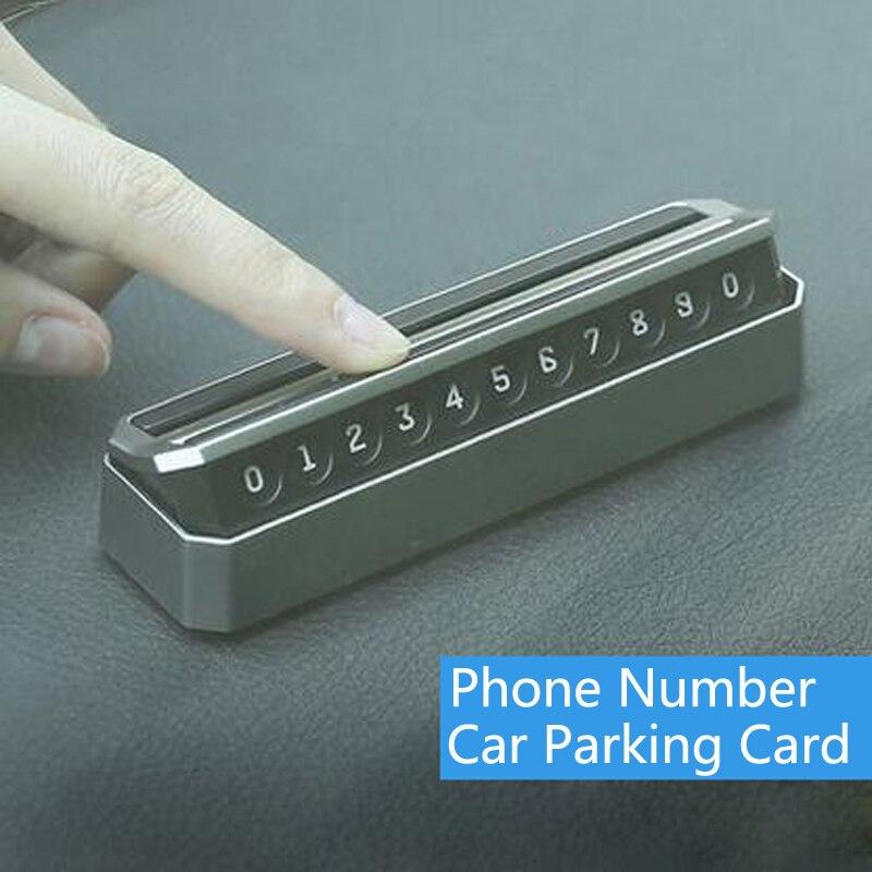 Car Temporary Parking Card Phone Number Card Automobile Accessories For Hyundai Solaris Accent I30 Ix35 I20 Santa Fe Tucson Getz