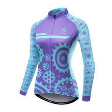 все цены на Pro Team Blue Womens Cycling Jersey Bike Cycle Shirt Ropa Ciclismo Bicycle Wear Women's Jerseys Sport MTB Cycling Clothing онлайн
