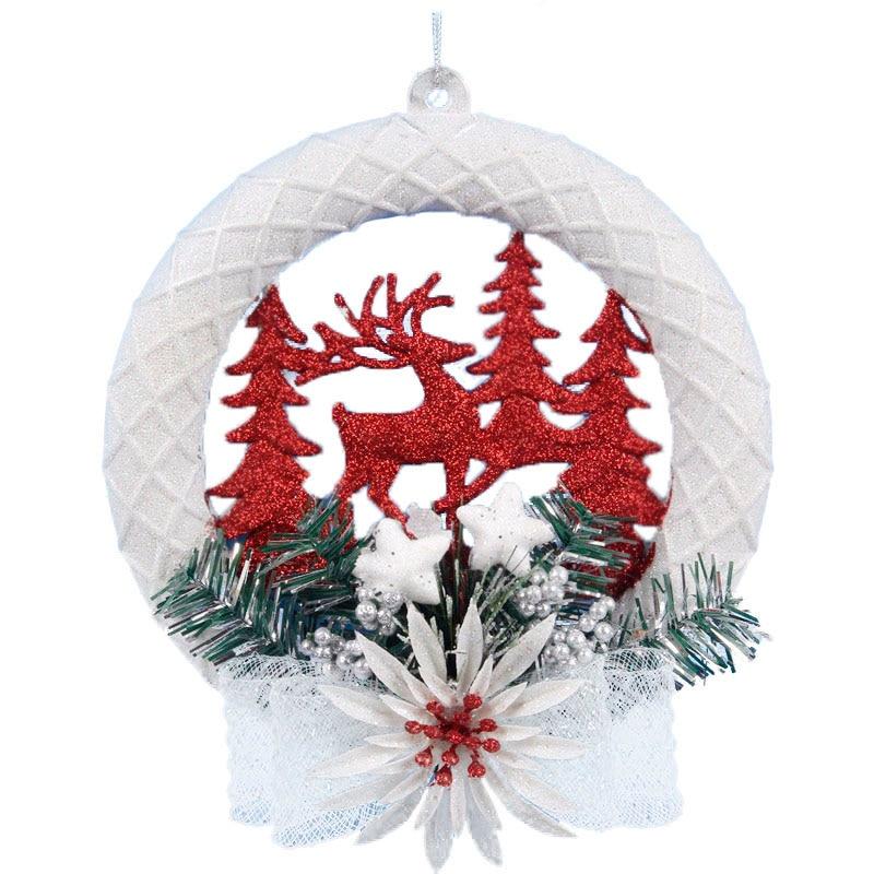 Hot Sale White Christmas Home Door Window Ornaments ...
