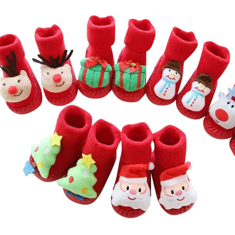 1 Paar Weihnachten Socken Neugeborenen Socken Baby Mädchen Socken Kleinkind Baby Jungen Mädchen Cartoon Weihnachten Anti-slip Socken Meia Infantil N08 # F Um Eine Reibungslose üBertragung Zu GewäHrleisten