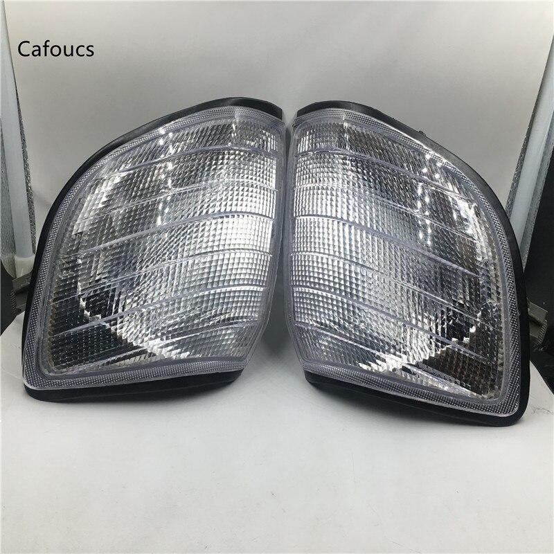 Cafoucs Weiß Ecke Licht Parkplatz Lampen Für Mercedes Benz W140 S-klasse S320 S420 S500 S600 1991-1998