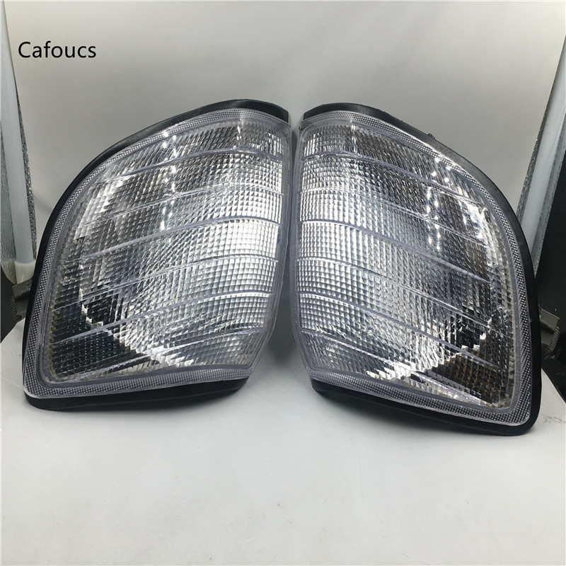 Cafoucs White Corner Light Parking Lamps For <font><b>Mercedes</b></font> Benz <font><b>W140</b></font> S-Class S320 S420 <font><b>S500</b></font> S600 1991-1998 image