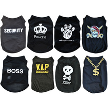 XS-L Small Dog Clothes Summer Cat Puppy Shirt Breathable Dogs tshirt Clothing Print Pet Dog Shirt For Cats Yorkies Pug Cat Vest