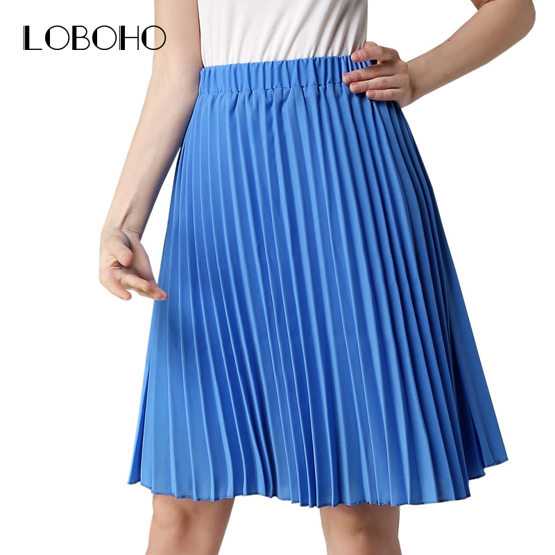 high waist pleated skirt summer 2017 fashion vintage