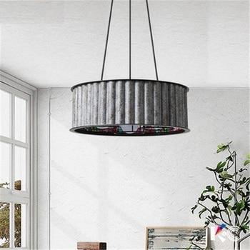 Amerikaanse Loft Stijl Ijzer Droplight Retro LED Hanger Verlichting Voor Eetkamer Opknoping Lamp Industriële Vintage Verlichting