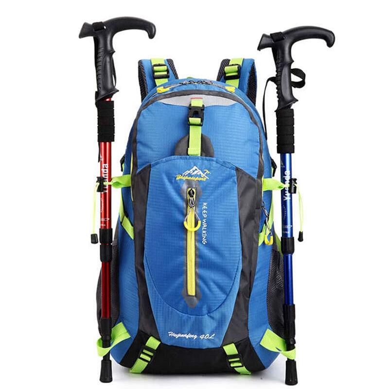 Prix pour 40L Sports de Plein Air Sac À Dos Femmes Hommes Imperméable En Nylon Randonnée Camping Montagne Escalade Vélo Sacs À Dos Sac À Dos XA551YL