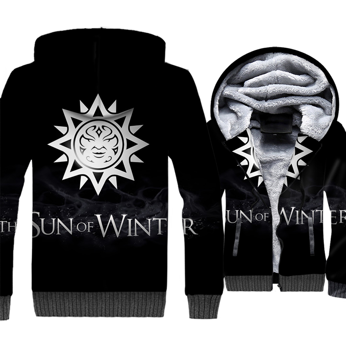 THE SUN OF WINTER Sweatshirts For Men 2018 New Autumn Jacket Zipper Coat Game Of Thrones Hip Hop Men's Hoodies Streetwear Hoody