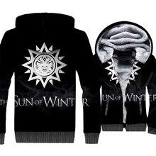 THE SUN OF WINTER Sweatshirts For Men 2018 New Autumn Jacket Zipper Coat Game Of Thrones Hip Hop Mens Hoodies Streetwear Hoody