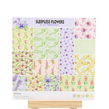 KLJUYP 12 Sheets Sleepless Flowers Scrapbooking Pads Paper Origami Art Background Paper Card Making DIY Scrapbook Paper Craft(China)