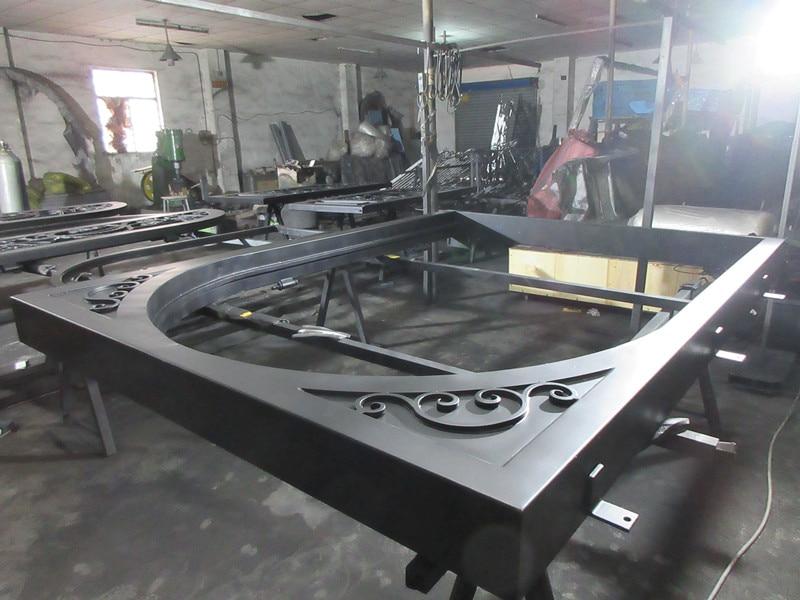 Custom made biggest jamb&door top quality wrought iron doors hench-id3