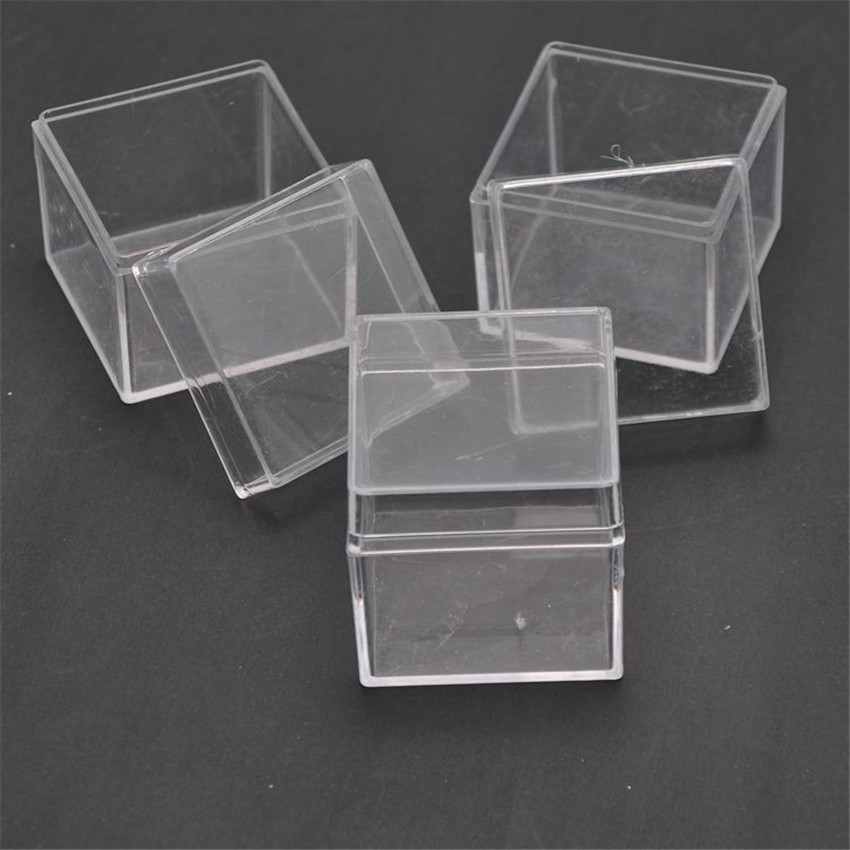 48pcs lot Square Wedding Favors Candy Box Plastic Clear Gift Packaging Box Transparent Favor Boxes Baby
