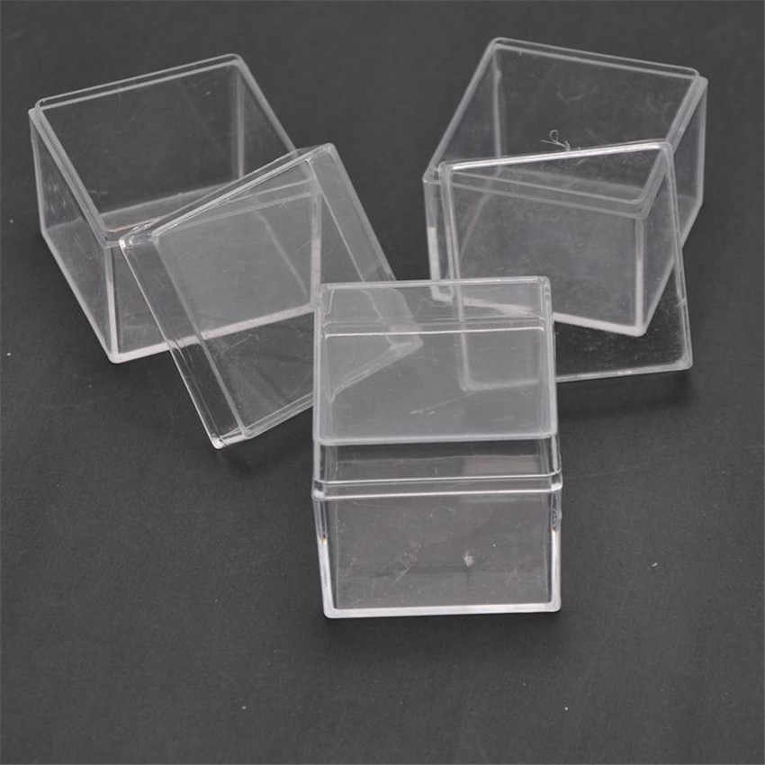 ed3702002c30 48pcs lot Square Wedding Favors Candy Box Plastic Clear Gift Packaging Box  Transparent Favor Boxes