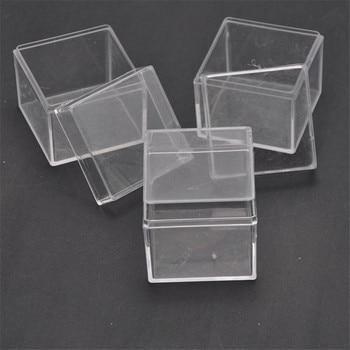 48pcs/lot Square Wedding Favors Candy Box Plastic Clear Gift Packaging Box Transparent Favor Boxes Baby Shower Favor Souvenirs