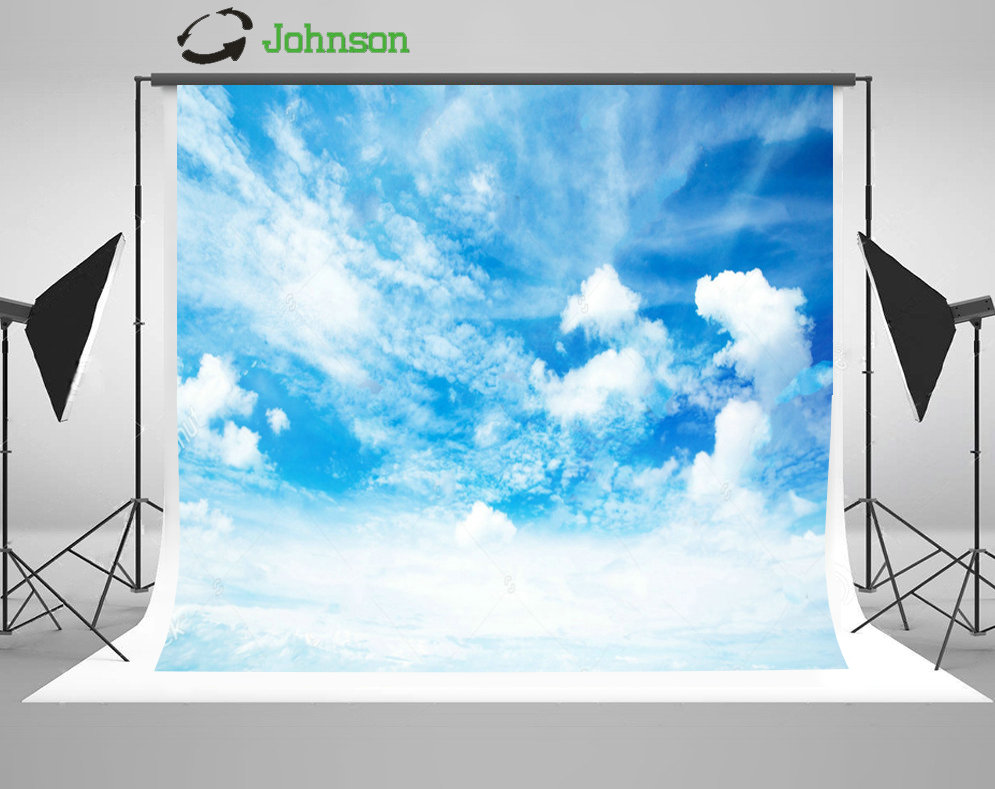 Blue Sky with Clouds Cloudy Photography Backgrounds polyester or Vinyl cloth High quality Computer print wall backdrops