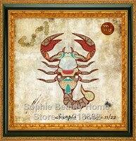 New Needlework diy cross stitch 100% full square drill diamond painting mosaic diamond embroidery Scorpio Of The Zodiac