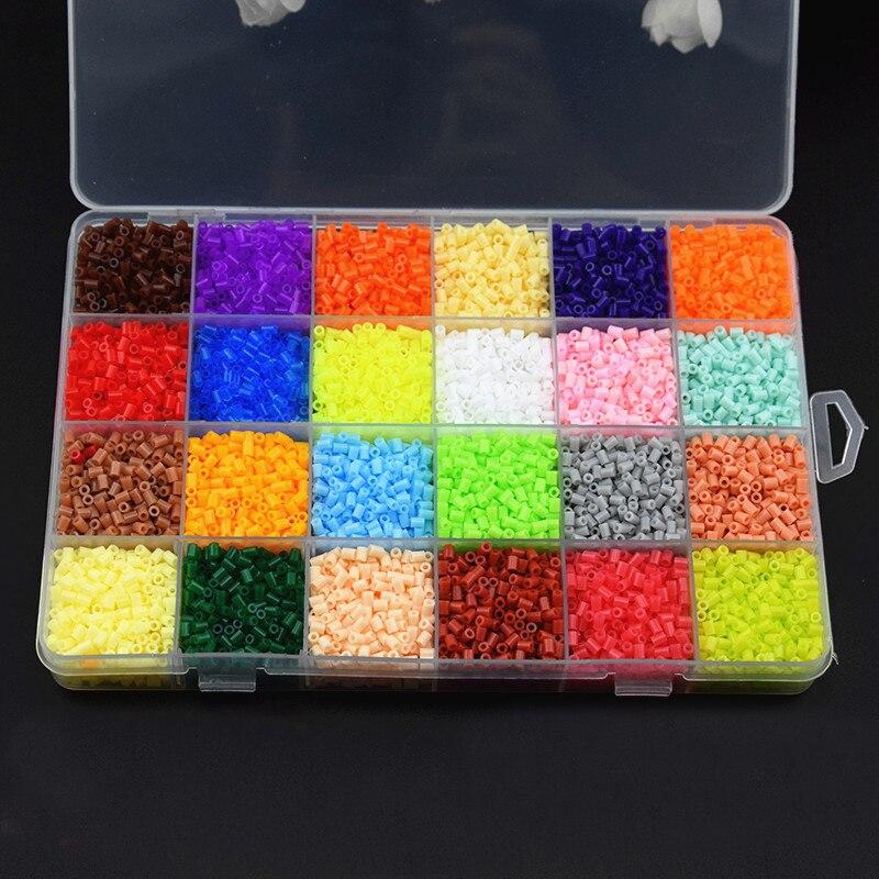 13000Pcs Box Set Hama Beads 2.6MM Perler Beads 24 Colors DIY Creative Puzzles Tangram Jigsaw Board Baby Kid Educational Toys