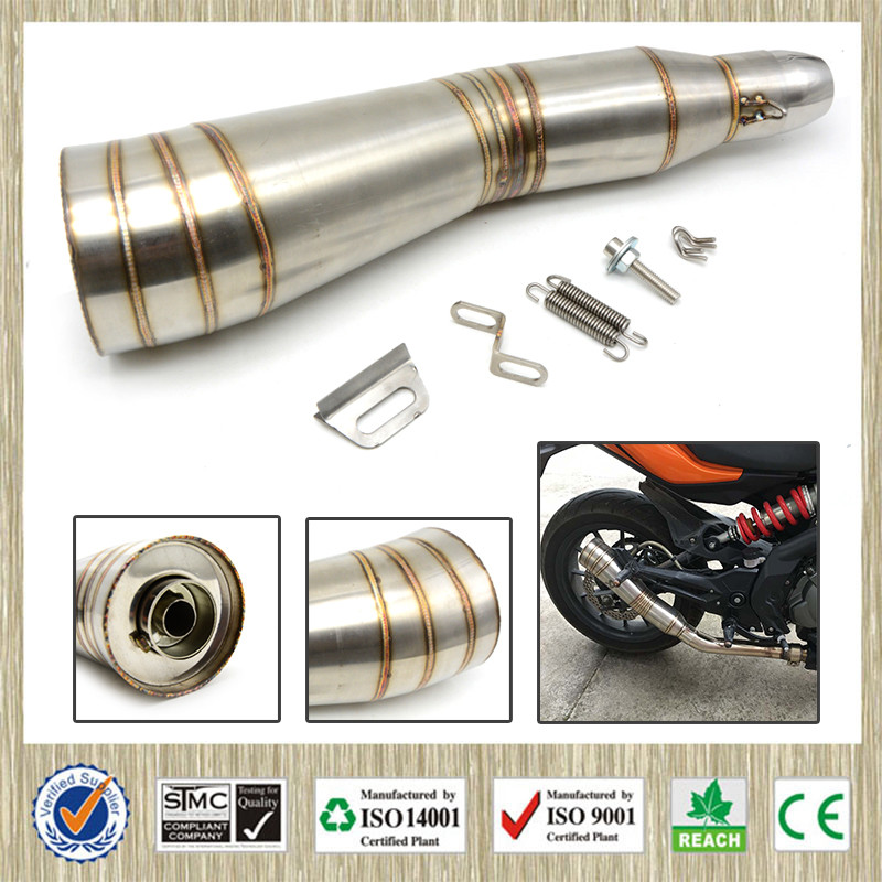 Universal Motorcycle Exhaust Pipe Modified Exhaust Muffler Pipe For Yamaha T MAX TMAX 530 500 BWS XMAX 125 250 300 400 MT-07 R6 51mm universal modified motorcycle scooter exhaust pipe muffler for yamaha mt09 mt 09 03 01 tmax 500 530 r1 r3 r6 fz6 fjr v max