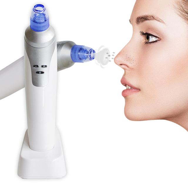 Electronic Facial Pore Cleaner Vacuum Nose Blackhead Cleansing Acne Remover Comedo Suction Tool Skin Care Massage Beauty Machine