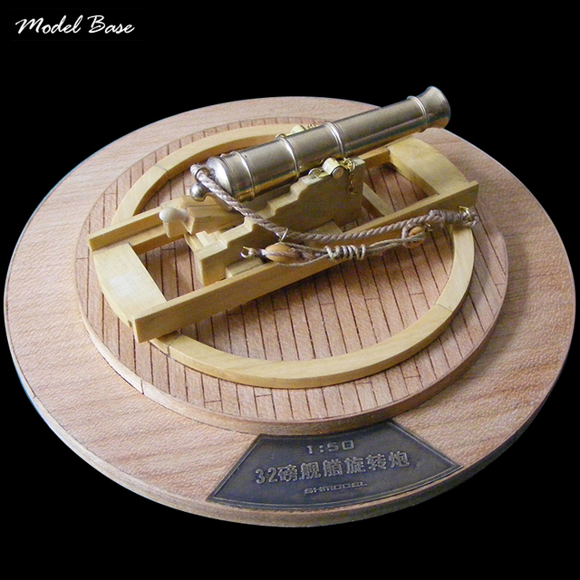 Model Boats Wooden Cannon Model Sets Classic Style The 32 Pounds Bow Rotary Cannon Fort Cherry Wooden-Models-Kits 1/50 Scale