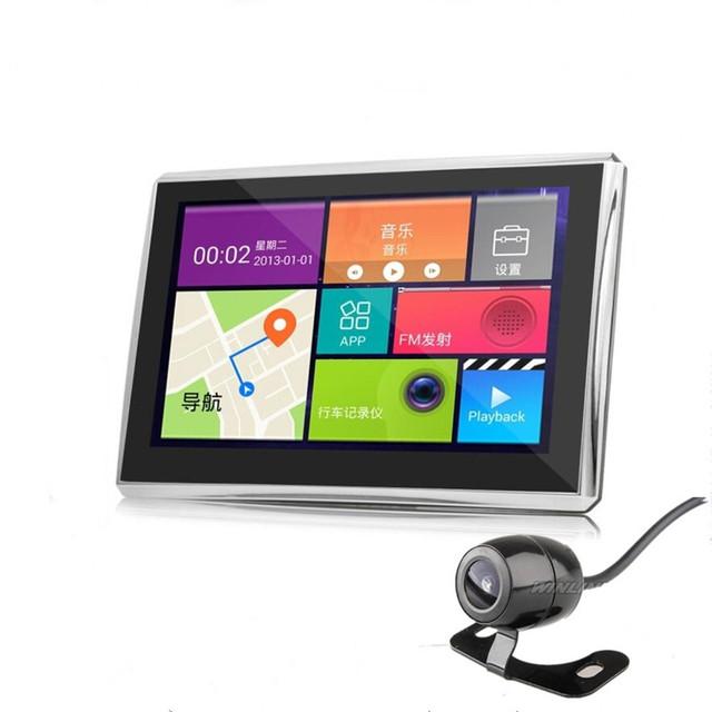 """Mais novo 7 """"Android GPS Do Carro Navegação Wi-fi Com Câmera de Visão Traseira de Estacionamento 1080 P Câmera Do Carro Gravador de Vídeo GPS Automóvel navegador"""
