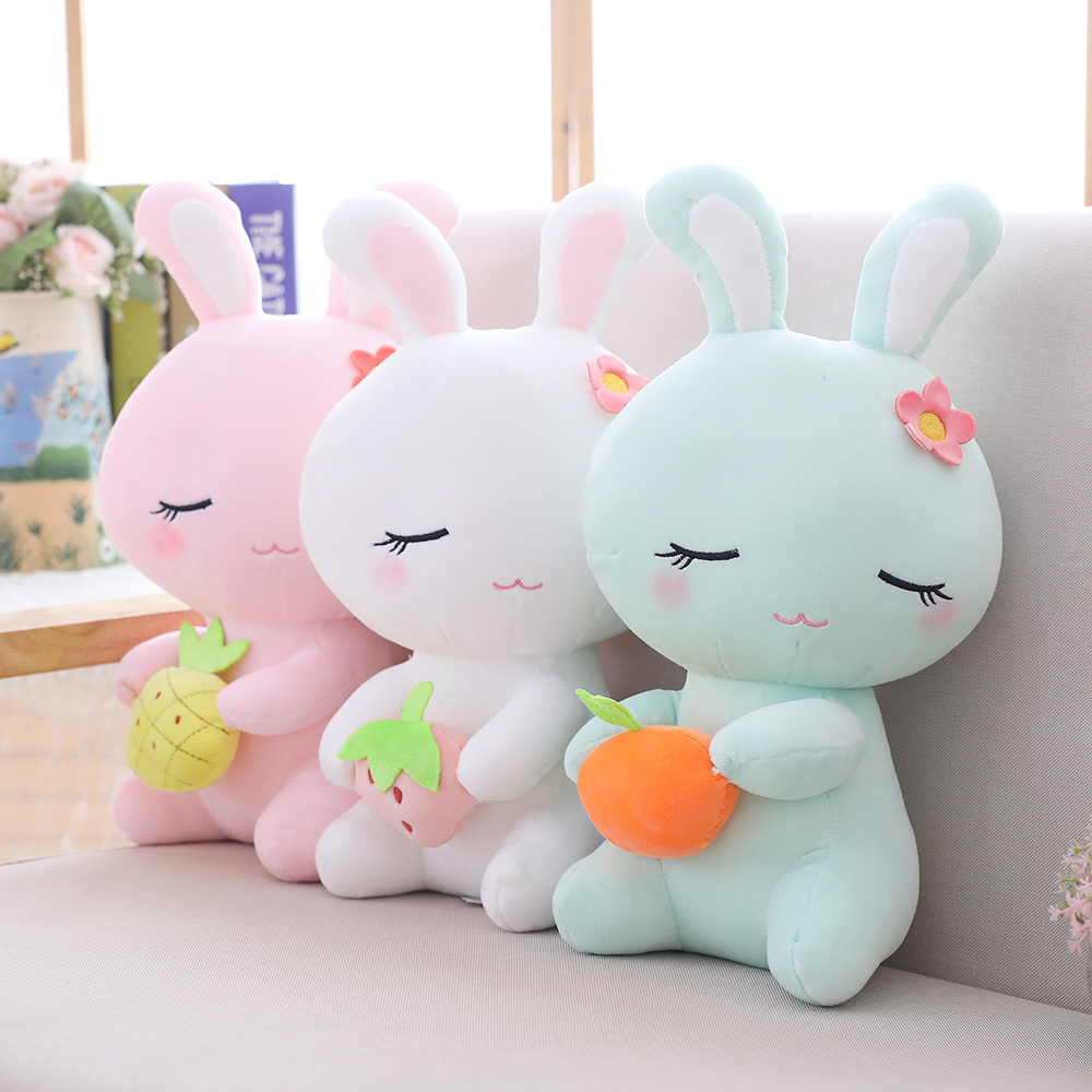 22 Cm Soft Flora Easter Bunny Rabbit Plush Toy Stuffed Animal Bunny Rabbit Plush Soft  Placating Toys For Children Toy