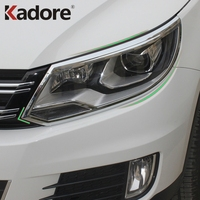 Car Styling Accessories For Volkswagen Tiguan 2013 2014 2015 Chrome Head Light Headlight Car Lamp Shade Cover Decoration Trim