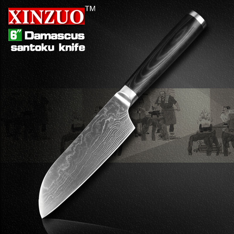 NEW 6 Japanese chef font b knife b font Damascus steel kitchen font b knives b