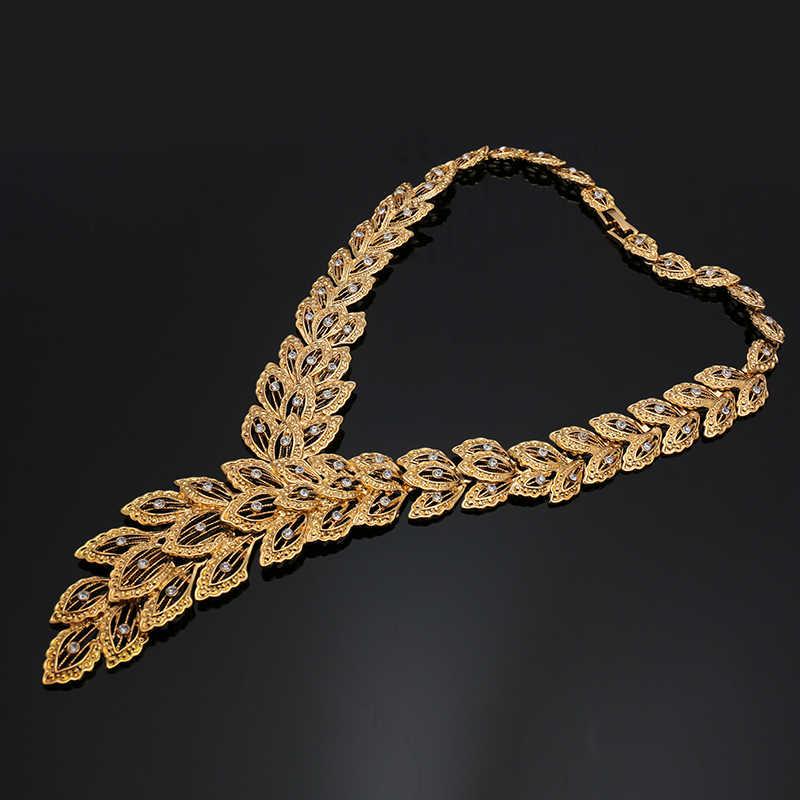 Fani Braut Geschenk Nigerian Frau Hochzeit Afrikanische Perlen Schmuck Set Marke Dubai Gold Bunten Schmuck-Sets Großhandel design