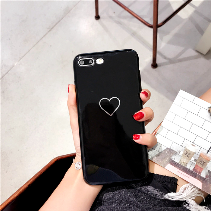 Blu-Ray Phone Iphone 6 6S Plus Hot Korean Heart Mirror Soft TPU Phone Back Cover Cases Best Gifts