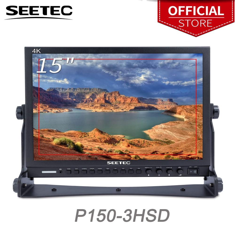 Seetec 15 Inch Aluminum Design 1024x768 HD Pro Broadcast LCD Monitor with 3G-SDI HDMI AV YPbPr P150-3HSD Desktop LCD Monitor seetec p150 3hsd 15 inch aluminum hd pro 3g sdi hdmi broadcast monitor with peaking focus assist check field 15 lcd monitor