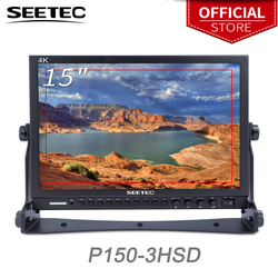 Seetec 15 Inch Aluminum Design 1024x768 HD Pro Broadcast LCD Monitor with 3G-SDI HDMI AV YPbPr P150-3HSD Desktop LCD Monitor