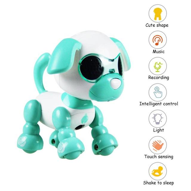 4 Function Robot Dog Toy Smart Pet Robot Children's Interactive Playmate Interesting Electronic Pet Dog Toys For ChildrenElectronic Toys