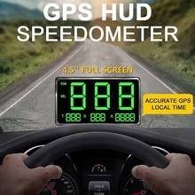 Универсальный 4,5 дюймовый автомобильный цифровой автомобильный gps скоростной дисплей HUD MPH для Мопед мотоцикл автомобиль