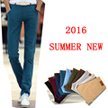 pants men 2016 summer long trousers cotton pants casual straight plus size 38 trousers men pantalon homme
