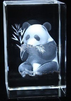 Free Shipping 5 5 8CM Crystal Cube With 3D Laser Panda Promotional Gift Best Wedding Souvenirs