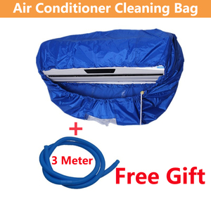 Image 3 - Blue Wall Mounted Air Conditioning Cleaning Bag Split Air Conditioner cleaning Washing Cover Waterproof Protector for 1p/2p/3p