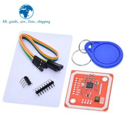 TZT 1Set PN532 NFC RFID Wireless Module V3 User Kits Reader Writer Mode IC S50 Card PCB Attenna I2C IIC SPI HSU For Arduino