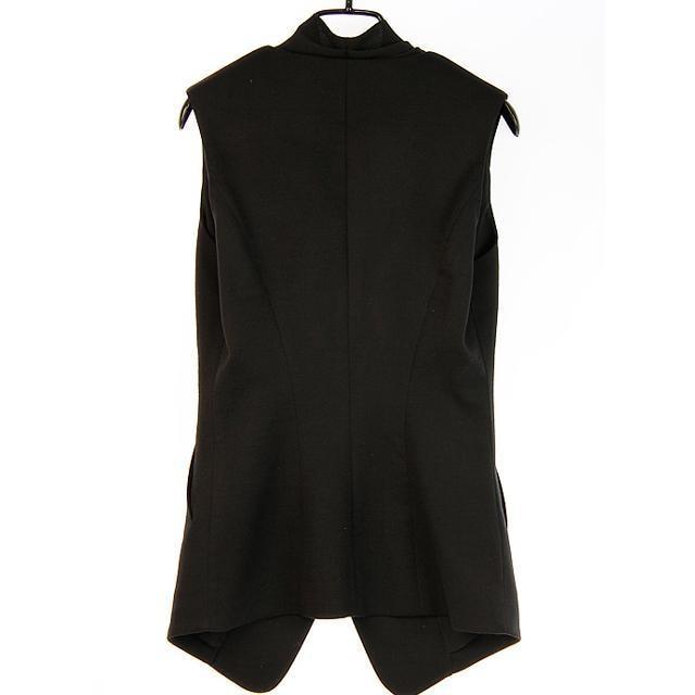 Новая мода двубортный костюм воротник шифон жилет дамы без рукавов Жилеты