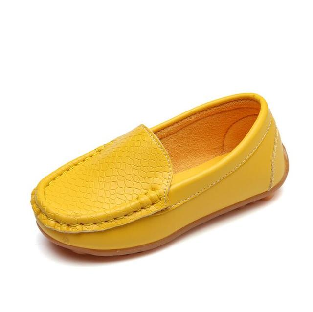8 Colors Unisex Kids Shoes All Seasons Boys Loafers Soft PU Leather Moccasins Girls Shoes Size 21-37 7HW0336 3