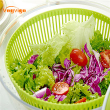 VOGVIGO Househ Hand-cranked Convenient Fruit and Vegetable Cleaners Dehydrator Basket Bacon Salad Storage Basin Kitchen Tools
