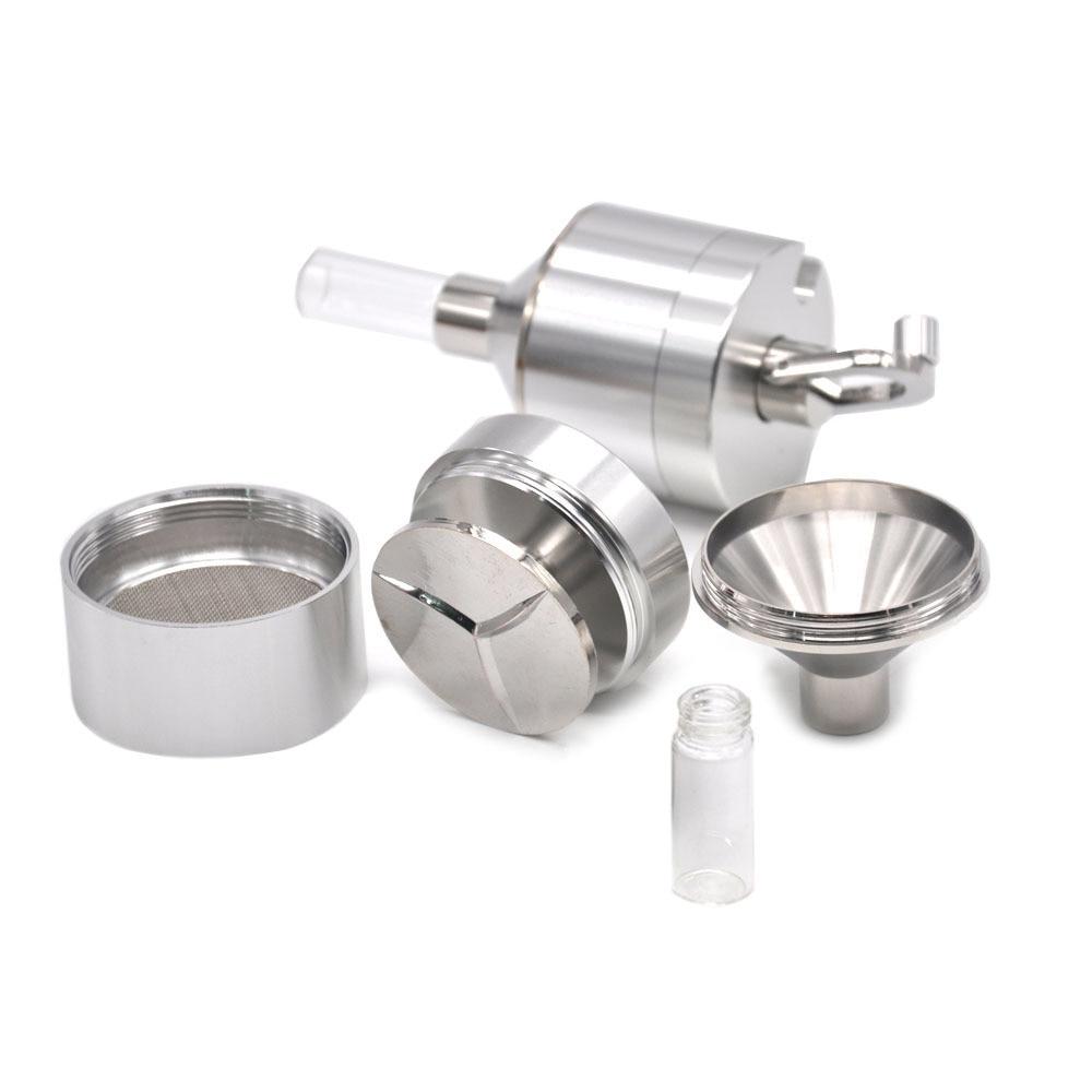 Mills Funnel Mill Grinder Metal Aluminium Hand Pollinator Snuff Titanium Press Crusher a804 24