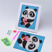 5D DIY Special Shaped Diamond Paintings Cartoon Panda Rhinestone Full Drilled Diamond Embroidery Kits Kids Room Decor Picture